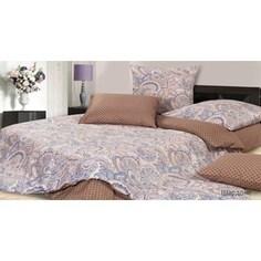 Комплект постельного белья Ecotex Семейный, сатин, Шардоне (КГДШардоне)