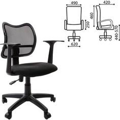 Кресло оператора Brabix Drive MG-350 с подлокотниками черное TW 531394