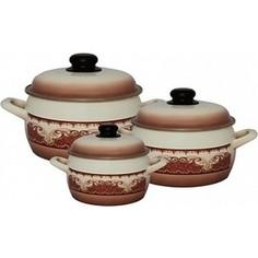 Набор эмалированной посуды 6 предметов Metrot Терракот (110653)