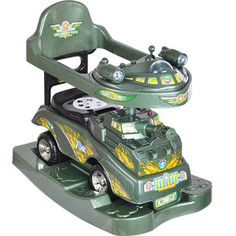 Каталка TOYSMAX боевая машина 3 в 1, зеленая, 9321