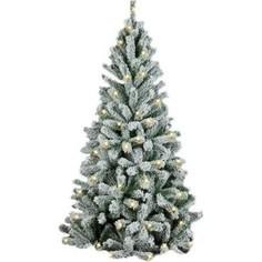 Елка искусственная Royal Christmas Flock Tree Promo Warm LED заснеженная 164150LED (150см)