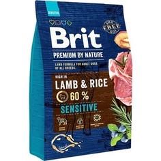 Сухой корм Brit Premium by Nature Sensitive Hight in Lamb & Rice с ягненком и рисом для собак с чувствительным пищеварением 3кг (526628) Brit*