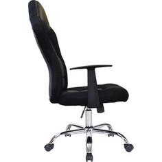 Кресло офисное Brabix Fusion EX-560 экокожа/ткань, хром, черное, 531581