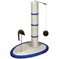 Когтеточка TRIXIE Столбик на подставке с игрушками для кошек 50см (4306)
