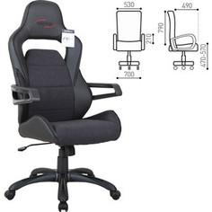 Кресло компьютерное Brabix Nitro GM-001 ткань, экокожа, черное 531817