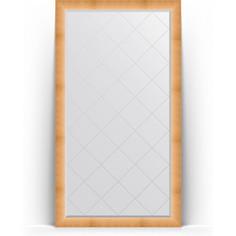 Зеркало напольное с гравировкой поворотное Evoform Exclusive-G Floor 111x201 см, в багетной раме - травленое золото 87 мм (BY 6356)