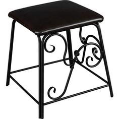 Банкетка Мебелик Сартон 31 черный/эко-кожа коричневый