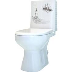 Унитаз-компакт Оскольская керамика Леда Люкс Маяк белый с сиденьем (4631111132210)