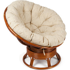 Кресло-качалка TetChair PAPASAN w 23/01 B с подушкой коньяк