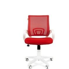 Офисное кресло Chairman 696 белый пластик TW-19/TW-69 красный