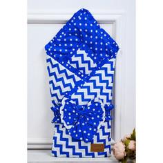 Одеяло на выписку AmaroBaby Zig Zag ( синий, поплин/бязь )