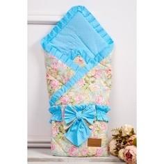 Одеяло на выписку AmaroBaby HAPPY (Сказка бирюзовый, поплин/бязь)