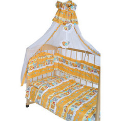 Комплект в кроватку GulSara 7 пр бязь (балдахин 150х285) бежевый 24 5