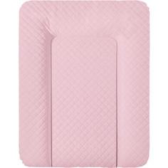 Матрац пеленальный Ceba Baby 70*50 см мягкий на комод CARO pink W-143-079-137