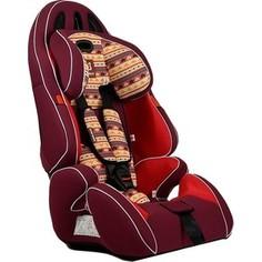 Автокресло Farfello GE-G бордовый (red+colorful)