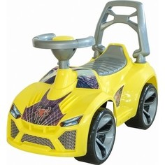 Каталка машинка RT ОР021 Ламбо с клаксоном жёлтый