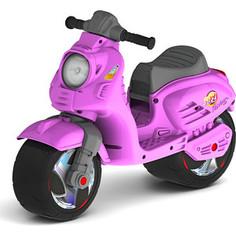 Каталка-мотоцикл RT ОР502 беговел Скутер цвет розовый