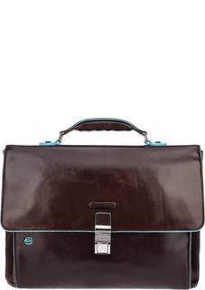 Кожаный портфель с карманами Piquadro