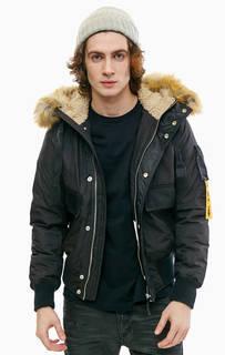 Короткая зимняя куртка с меховой отделкой Diesel
