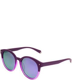 Солнцезащитные очки в фиолетовой пластиковой оправе Polaroid