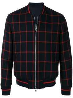 Alexander McQueen куртка-бомбер в клетку