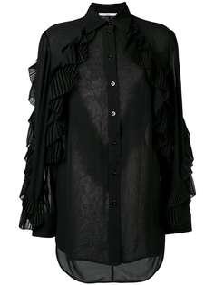 Givenchy прозрачная блузка с оборками