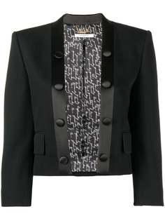 Givenchy укороченный пиджак-смокинг