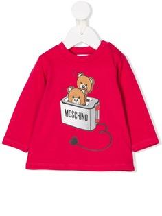 Moschino Kids топ с принтом тостера и медведей