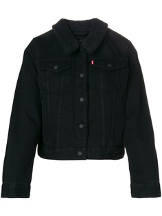Levis furry collar denim jacket
