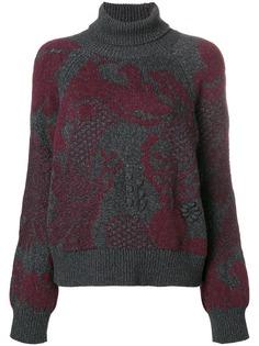 Barrie кашемировый пуловер Stencil Garden с высокой горловиной