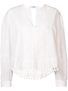 Derek Lam 10 Crosby блузка с длинным рукавом с кружевом и кисточками