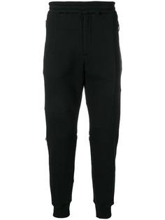 Alexander McQueen спортивные брюки с молнией