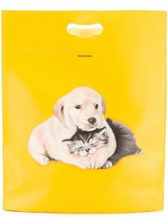 Balenciaga medium plastic bag shopper