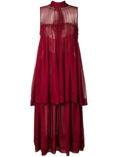 Rochas расклешенное платье без рукавов