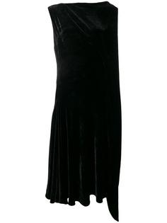 Salvatore Ferragamo бархатное платье асимметричного кроя