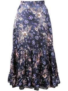 Jill Stuart юбка миди с цветочным принтом