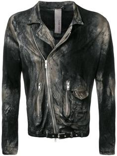 Giorgio Brato байкерская куртка с эффектом потертости