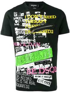 Dsquared2 slogan print T-shirt