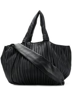 Max Mara объемная плиссированная сумка-тоут