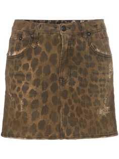 R13 юбка мини с леопардовым принтом