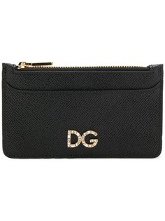 Dolce & Gabbana кошелек с кристаллами и логотипом
