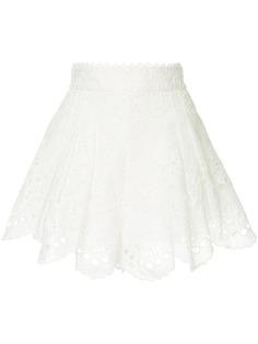 Zimmermann юбка Bowie с фестончатыми краями