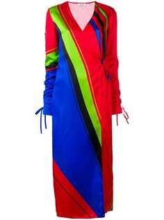 Attico платье-халат с принтом