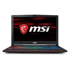 "Ноутбук MSI GP63 8RE(Leopard)-676, 15.6"", Intel Core i5 8300H 2.3ГГц, 8Гб, 1000Гб, 128Гб SSD, nVidia GeForce GTX 1060 - 6144 Мб, Free DOS, 9S7-16P522-676, черный"