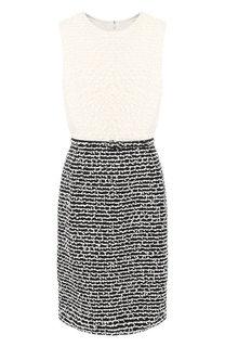 Платье из смеси шерсти и хлопка Oscar de la Renta
