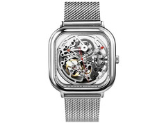 Часы наручные аналоговые Xiaomi Ciga Design Anti-Seismic Machanical Watch Wristwatch Silver