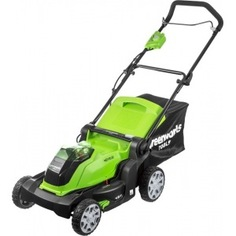 Аккумуляторная газонокосилка greenworks g40lm41k3 2504707ue
