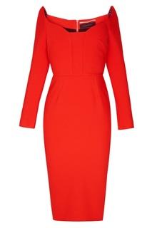 Красное платье-футляр Ardon Roland Mouret