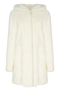 Меховое пальто с капюшоном Меха Екатерина