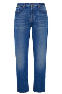 Синие джинсы с потертостями Gucci Man
